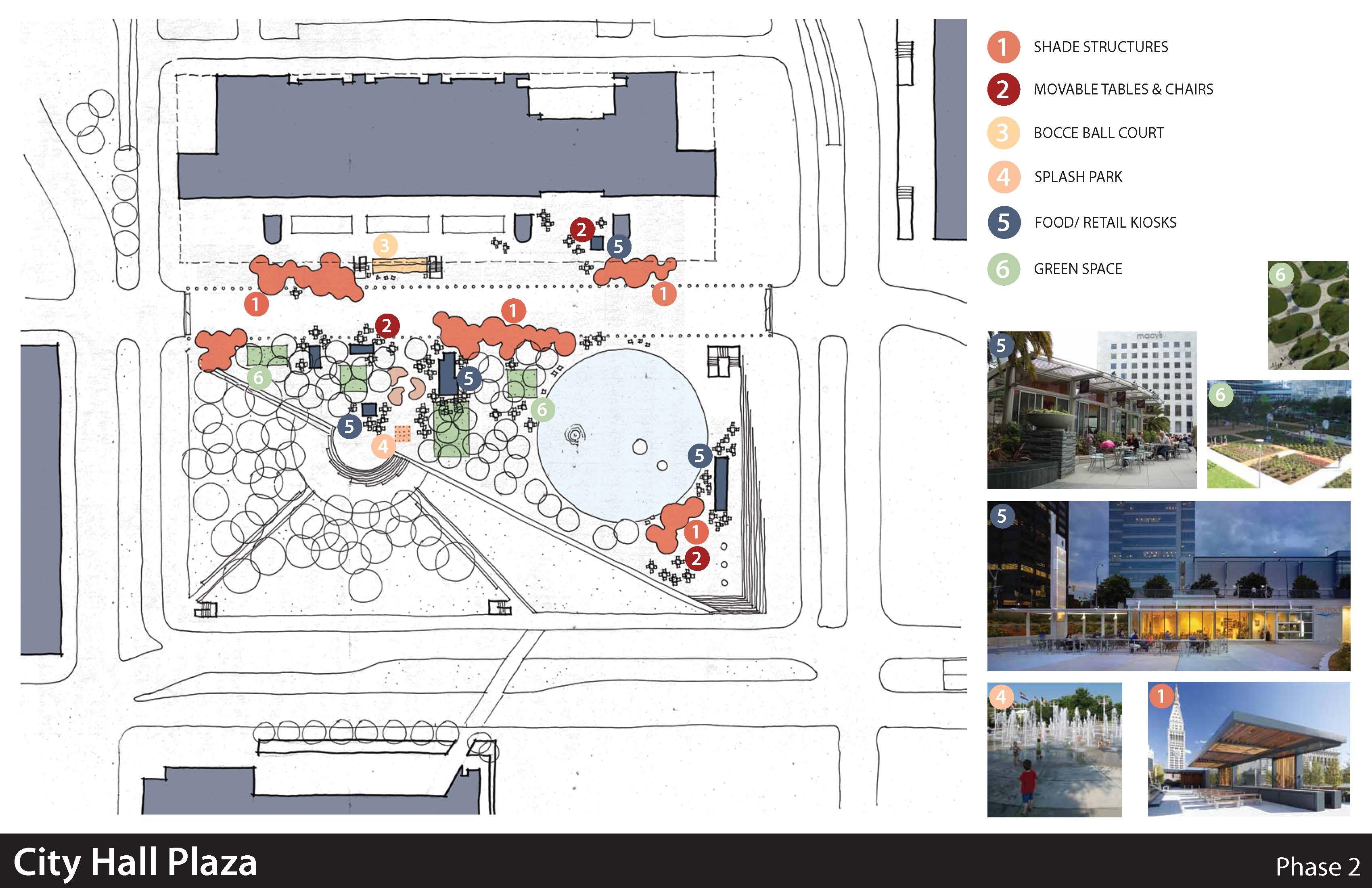 Dallas City Hall Plaza Schemes Dreams Friends Of Living Plaza